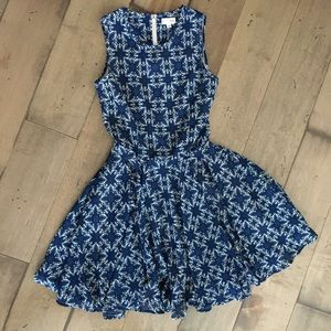 MAISON JULES DRESS BLUE FLORAL S